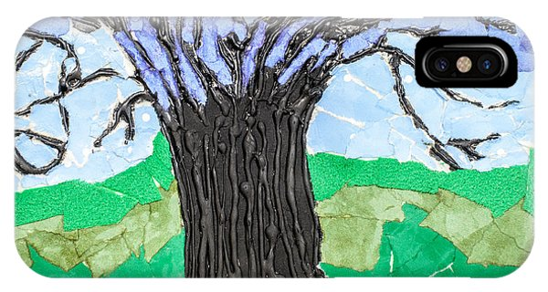 Texture iPhone Case - The Lonely Tree by Amanda Elwell