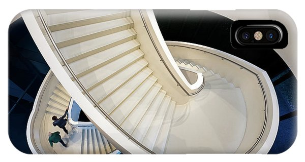 Staircase iPhone Case - The Long And Winding Road by Michiel Hageman