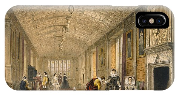 Fireplace iPhone Case - The Long Gallery At Lanhydrock by Joseph Nash