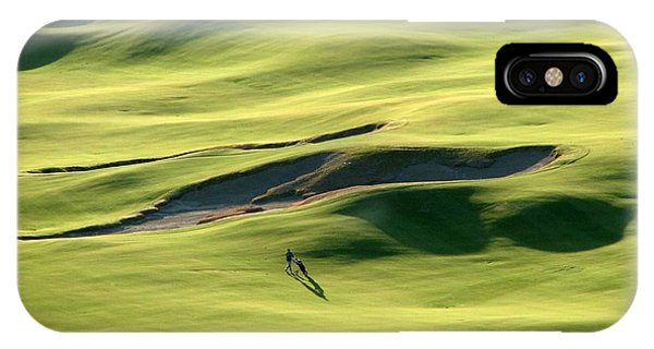 The Long Green Walk - Chambers Bay Golf Course IPhone Case