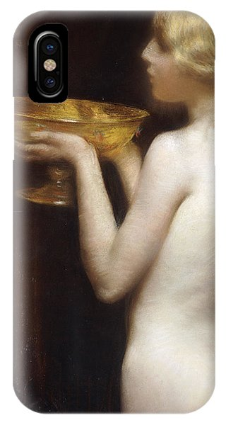 Blond iPhone Case - The Loving Cup by Janet Agnes Cumbrae-Stewart