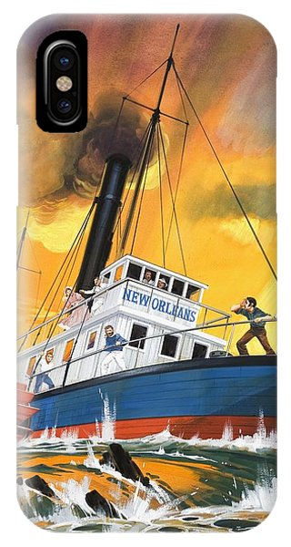 Mississippi River iPhone Case - The 'madmen' Of The Mississippi by English School