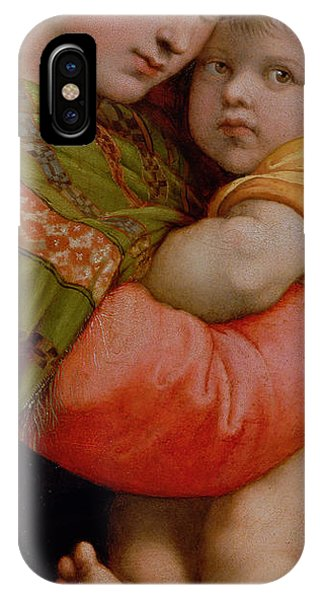 Raphael iPhone Case - The Madonna Of The Chair by Raphael