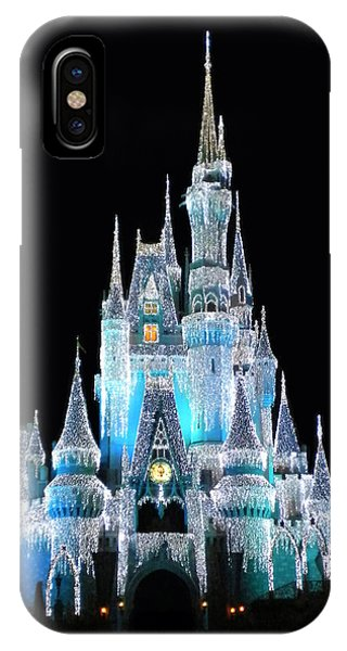 The Magic Kingdom Castle In Frosty Light Blue Walt Disney World IPhone Case