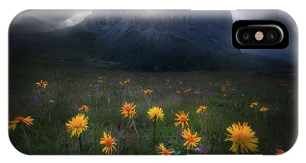 The Majesty Of Sassolungo Phone Case by Luca Rebustini