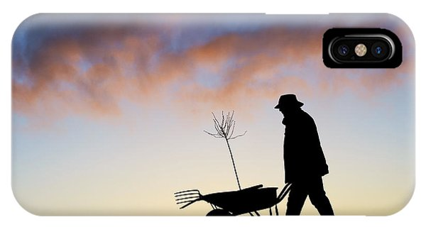 Gardens iPhone Case - The Man Who Plants Trees by Tim Gainey