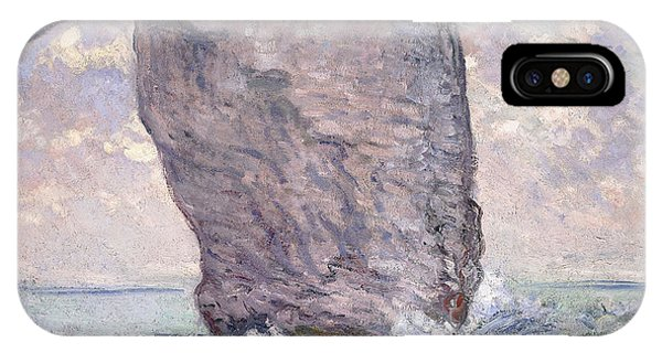 1880s iPhone Case - The Manneporte Seen From Below by Claude Monet