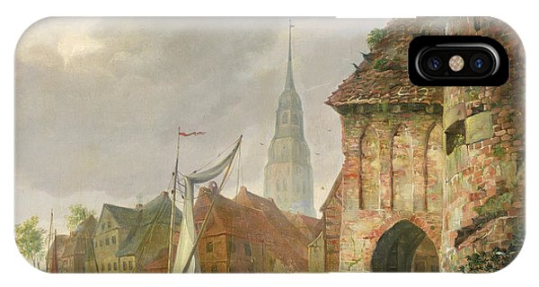 Gateway Arch iPhone Case - The March Gate In Buxtehude by Adolph Kiste