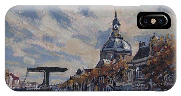 The Mare Church And Mare Bridge Leiden IPhone Case