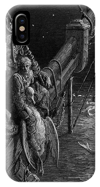 Albatross iPhone Case - The Mariner Gazes On The Serpents In The Ocean by Gustave Dore