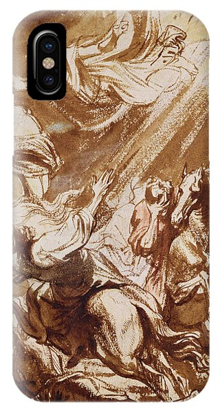Pen And Ink Drawings For Sale iPhone Case - The Martyrdom Of Saint Catherine by Sir Anthony van Dyck