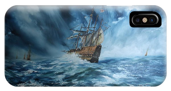 The Mary Rose And Fleet IPhone Case