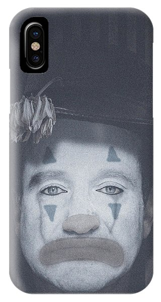 Robin Williams Comedian iPhone Case - The Mask Of Comedy by Jezebel X