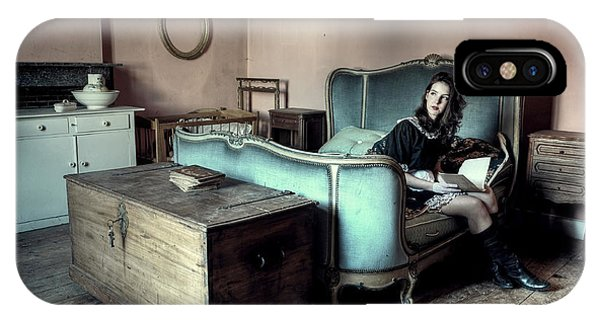 Bed iPhone Case - The Masters Bedroom by Monika Vanhercke