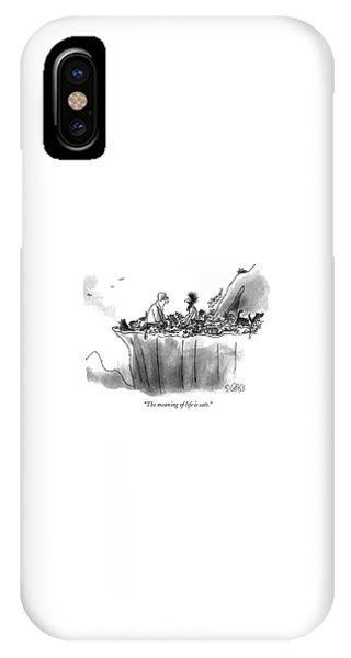 The Meaning Of Life Is Cats IPhone Case