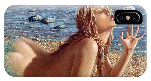 Nudes iPhone X Case - The Mermaids Friend by John Silver