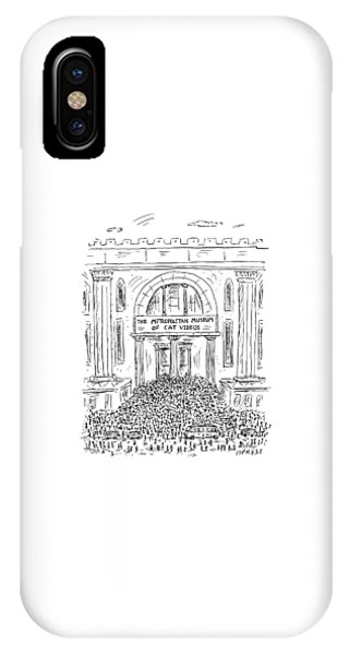 The Metropolitan Museum Of Cat Videos Thronged IPhone Case