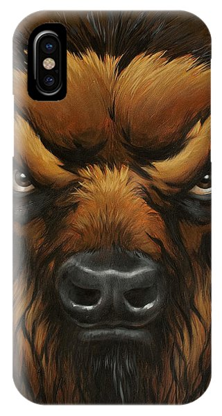 The Mighty Bison IPhone Case