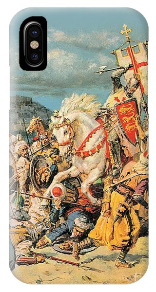 Normandy iPhone Case - The Mighty King Of Chivalry Richard The Lionheart by Fortunino Matania