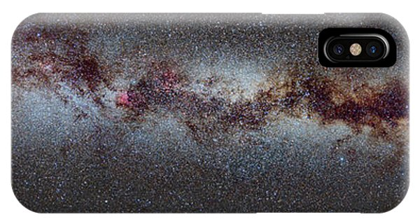 Swan iPhone X Case - The Milky Way From Scorpio And Antares To Perseus by Guido Montanes Castillo