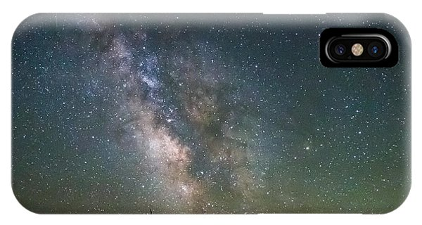 The Milky Way Meets The Aspen Fire IPhone Case