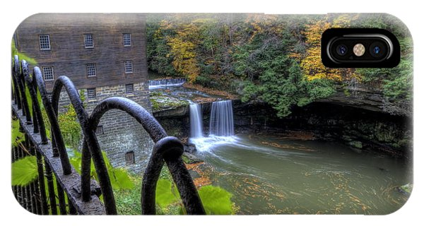 The Mill And Falls At Mill Creek Park IPhone Case
