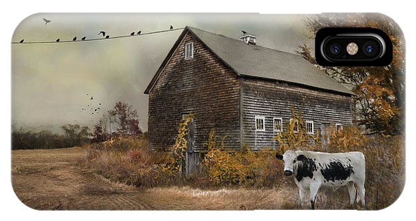 New England Barn iPhone Case - The Misfit by Robin-Lee Vieira