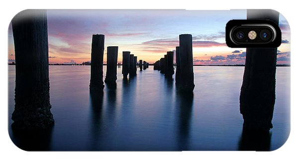 The Missing Pier At Sunset IPhone Case