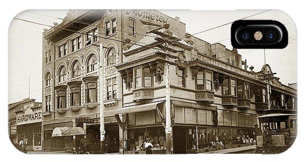 The Monterey Hotel 1904 The Goldstine Block Building 1906 Photo  IPhone Case