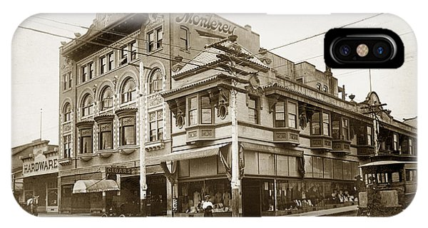 The Monterey Hotel 1904 The Goldstine Block Building 1906 Photo  IPhone Case
