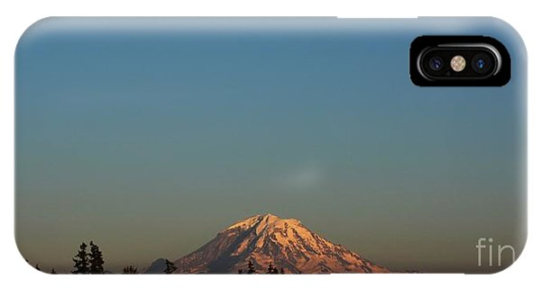 The Moon And Mt. Rainier IPhone Case
