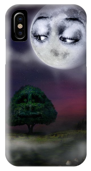 The Moon And The Tree IPhone Case