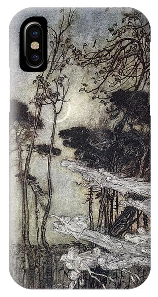 1 iPhone Case - ..the Moon, Like To A Silver Bow by Arthur Rackham