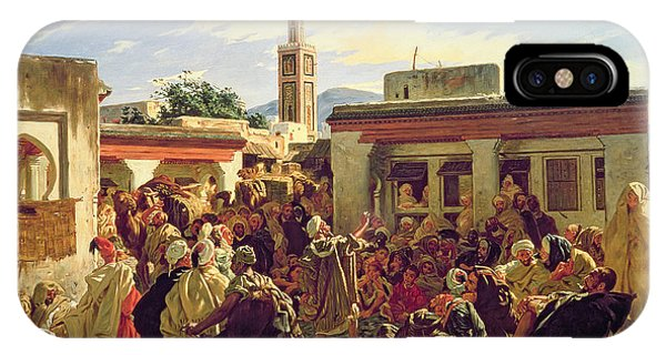1877 iPhone Case - The Moroccan Storyteller by Alfred Dehodencq