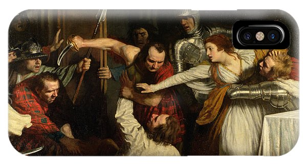 Pre-modern iPhone Case - The Murder Of Rizzio, 1787 Oil On Canvas by John Opie