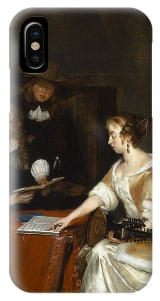 The Music Party, C.1668-70 Oil On Panel IPhone Case
