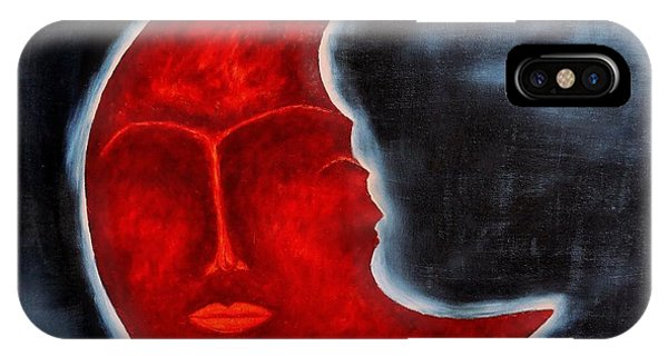 Deep Thought iPhone Case - The Mysterious Moon - Original Oil Painting by Marianna Mills