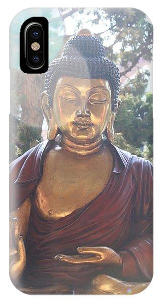 The Mystical Golden Buddha IPhone Case