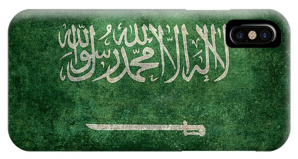 The National Flag Of  Kingdom Of Saudi Arabia  Vintage Version IPhone Case