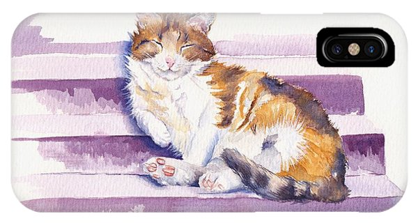 Cat iPhone X Case - The Naughty Step by Debra Hall