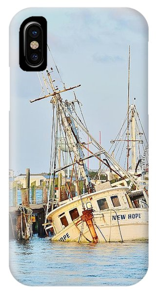 The New Hope Sunken Ship - Ocean City Maryland IPhone Case