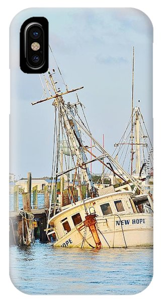 The New Hope Sunken Ship - Ocean City Maryland IPhone Case