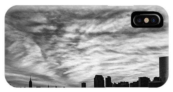 The New York City Skyline Awakens Bw IPhone Case