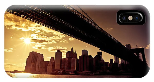 City Sunset iPhone Case - The New York City Skyline - Sunset by Vivienne Gucwa