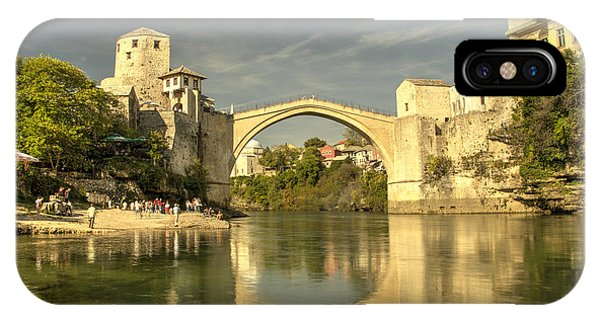 Mostar iPhone Case - The Old Bridge At Mostar by Rob Hawkins