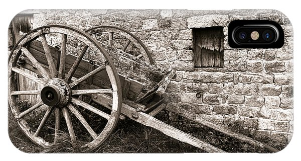 Wagon Wheel iPhone Case - The Old Cart by Olivier Le Queinec