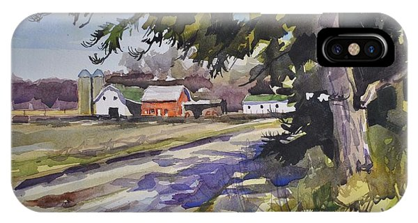Amish iPhone Case - The Old Farm Lane by Spencer Meagher