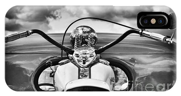 The Old Harley Monochrome IPhone Case