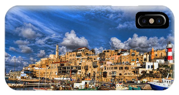 Meditative iPhone Case - the old Jaffa port by Ron Shoshani