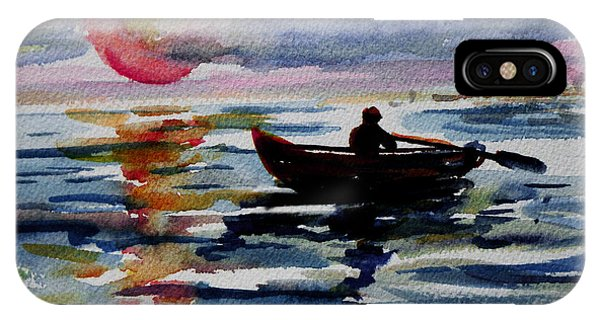 Nobel iPhone Case - The Old Man And The Sea by Xueling Zou